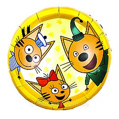 Фольгированный шар три кота