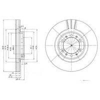 Гальмівний диск MITSUBISHI (PAJERO I,PAJERO II) DELPHI OE MB618716