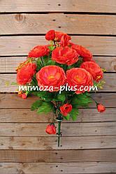 Искусственные цветы - Камелия букет, 55 см