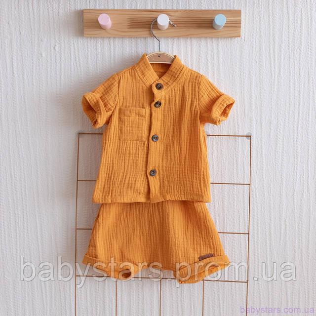 Муслиновая рубашка с шортами