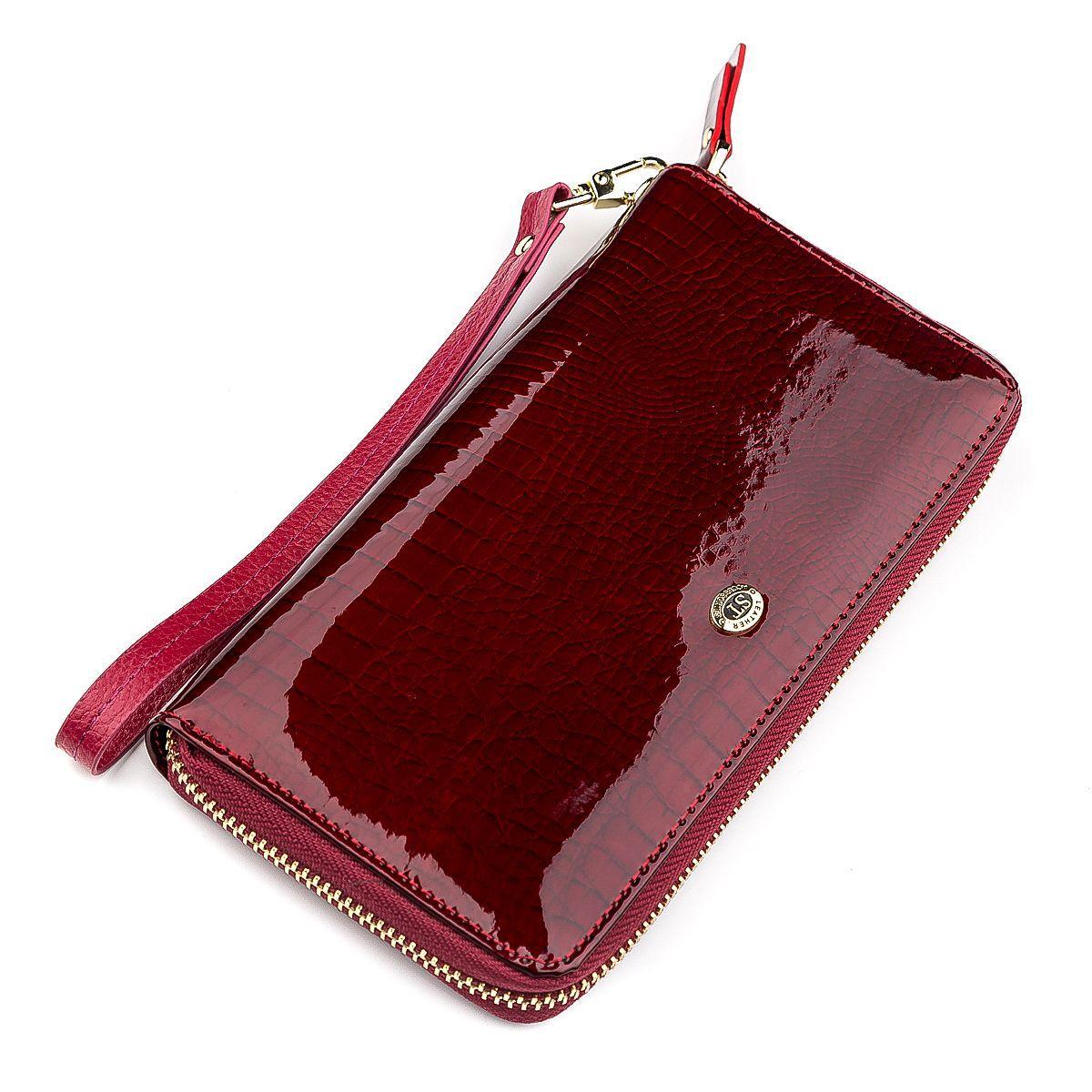Кошелек женский ST Leather 18400 (S4001A) кожаный Бордовый, Бордовый