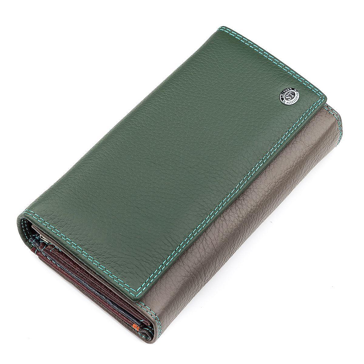 Кошелек женский ST Leather 18415 (SB46) Зеленый, Зеленый