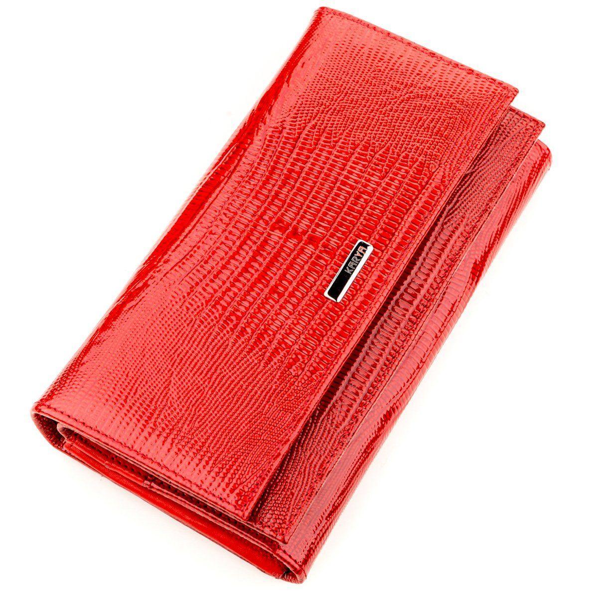 Кошелек женский KARYA 17234 кожаный Красный, Красный