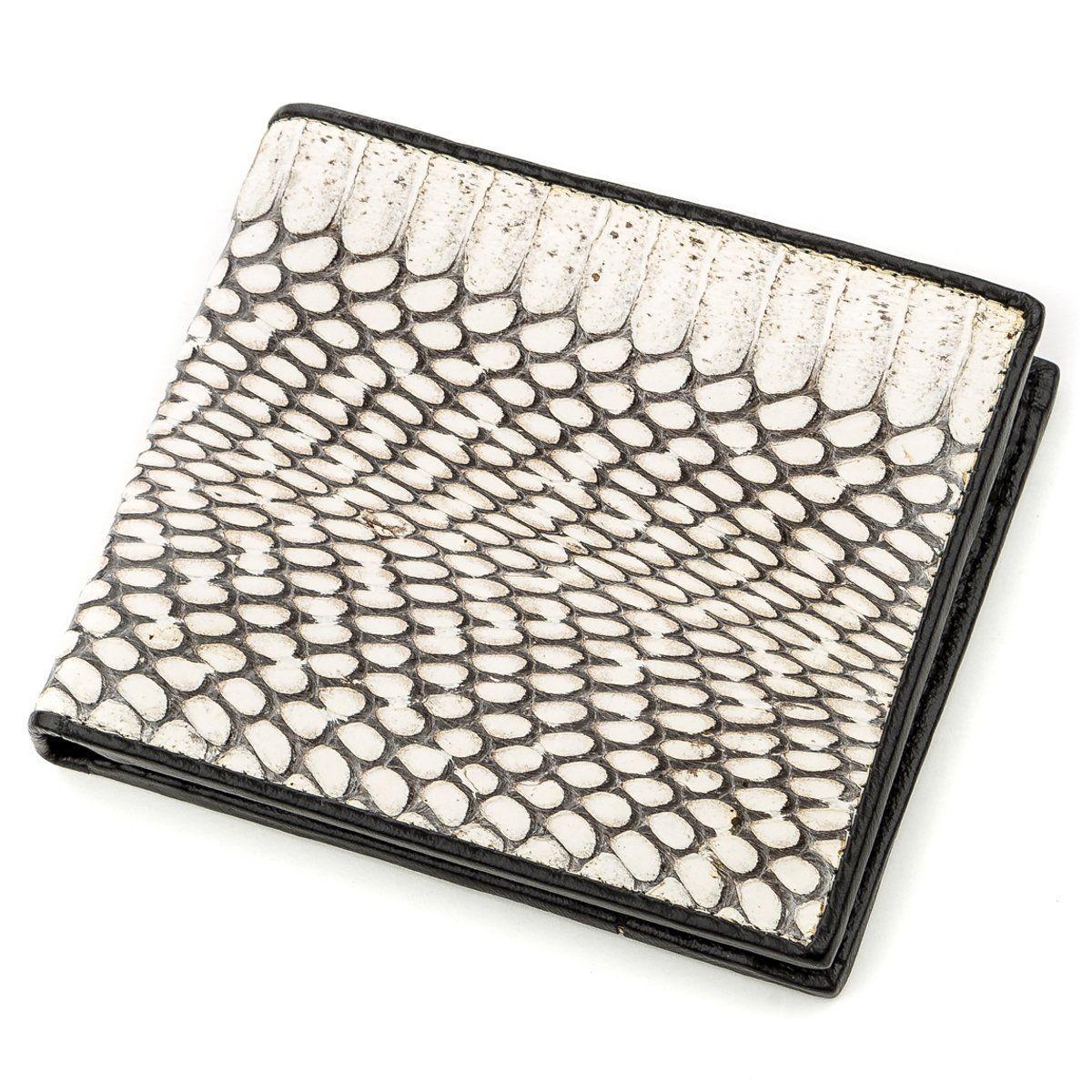 Бумажник мужской SEA SNAKE LEATHER 18552 из натуральной кожи кобры Серый, Серый