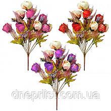 """Букет искусственный """"Розы бутоны 2 цвета"""" 10 бутонов, 6 см, 46 см"""