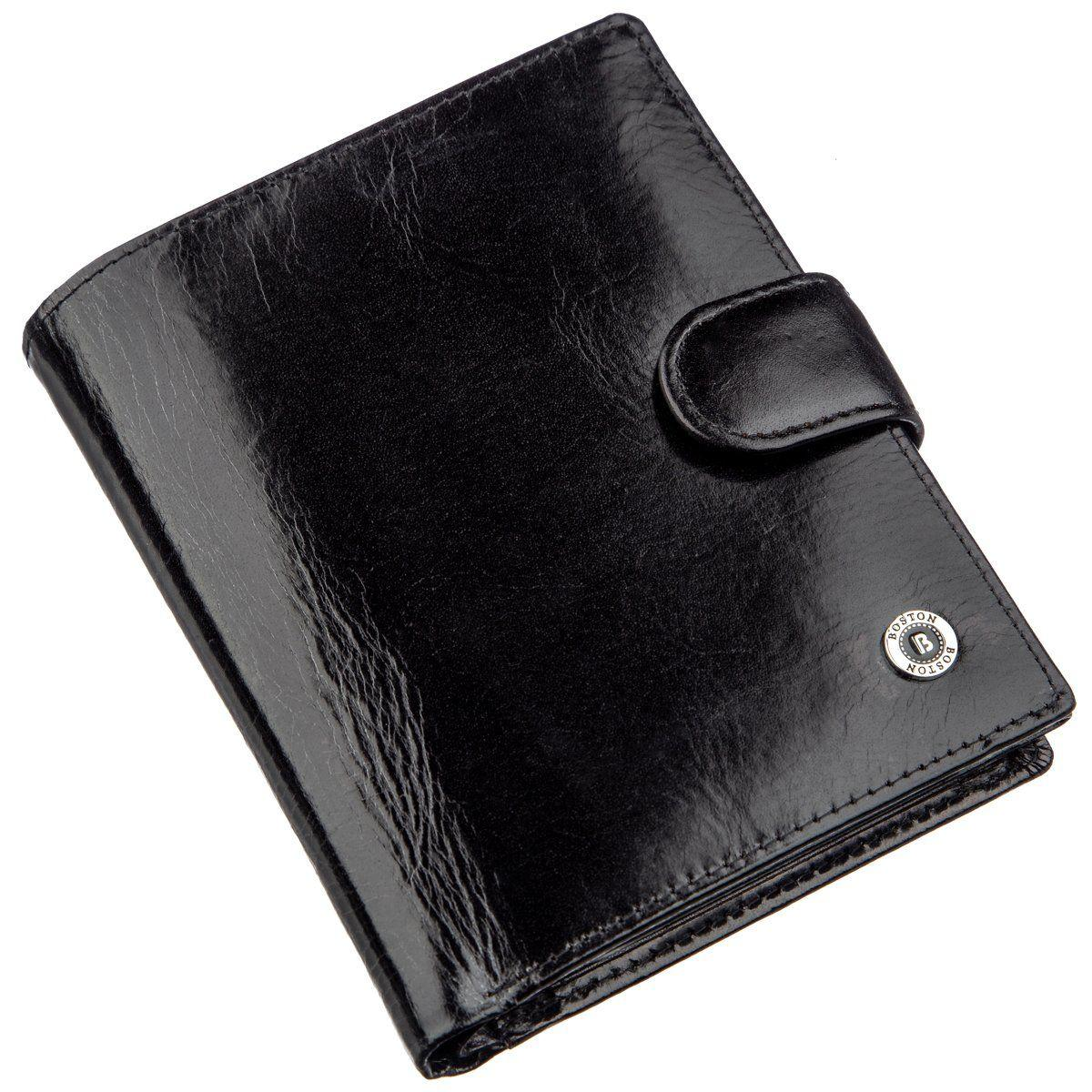 Классическое мужское портмоне Boston 18813 Черный, Черный