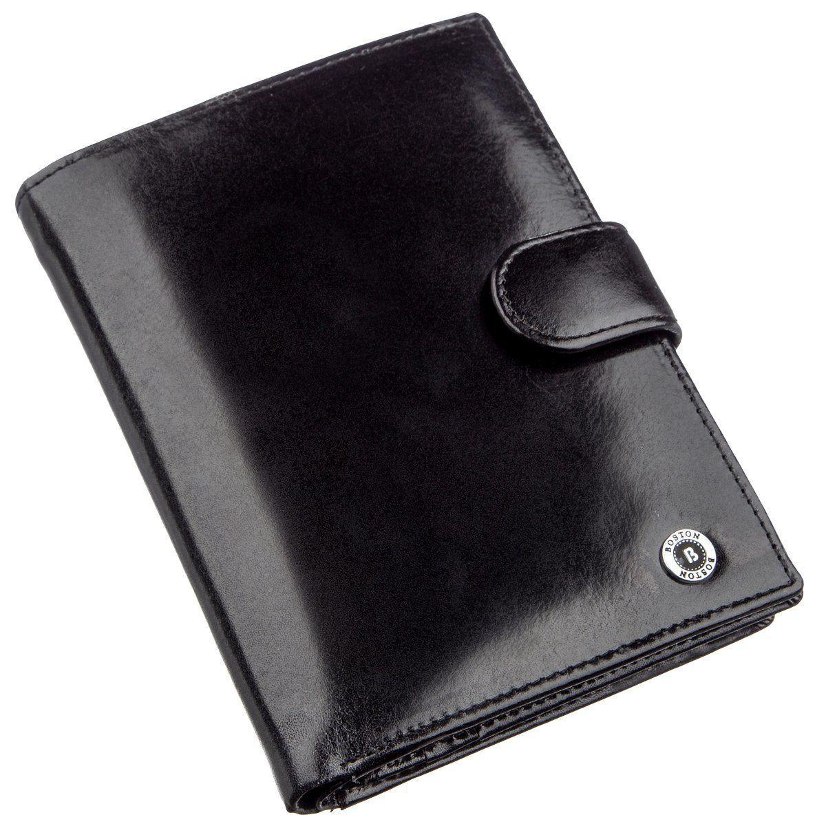 Мужской вместительный бумажник Boston 18817 Черный, Черный