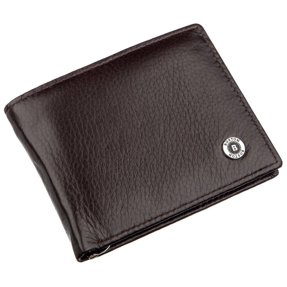 Мужское портмоне с зажимом для купюр Boston 18827 Коричневый, Коричневый