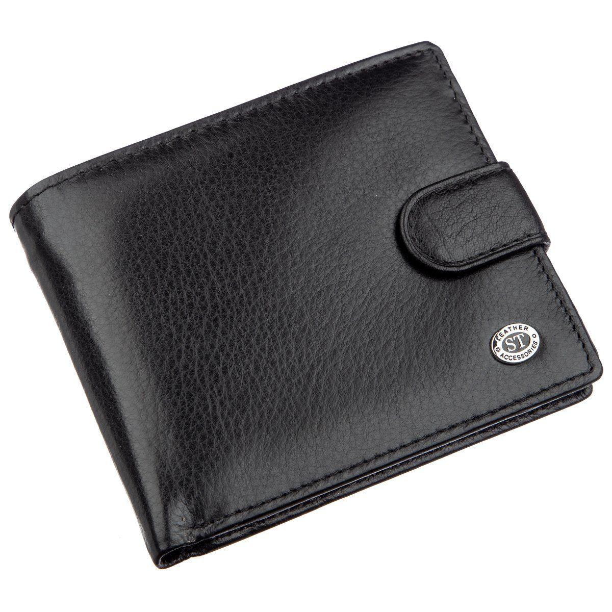Превосходный мужской бумажник ST Leather 18834 Черный, Черный