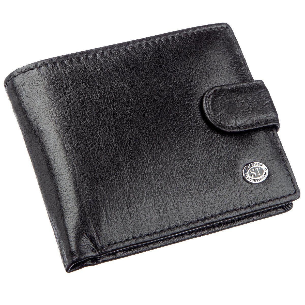 Портмоне для мужчин из натуральной кожи ST Leather 18835 Черный, Черный
