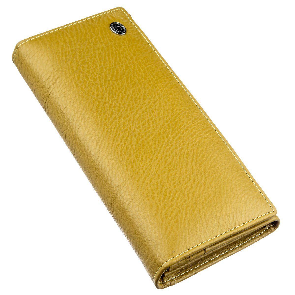 Классический кошелек для женщин на магните ST Leather 18871 Горчичный, Горчичный