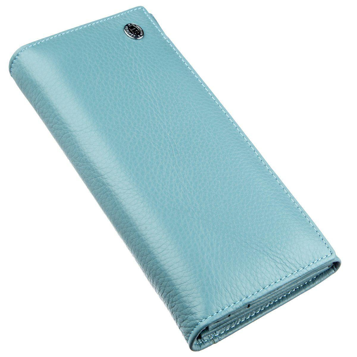 Яркий кошелек для женщин ST Leather 18876 Голубой, Голубой