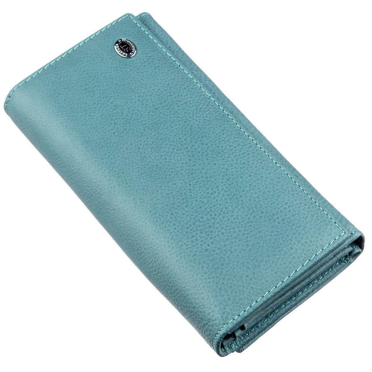 Современный женский кошелек ST Leather 18883 Голубой, Голубой