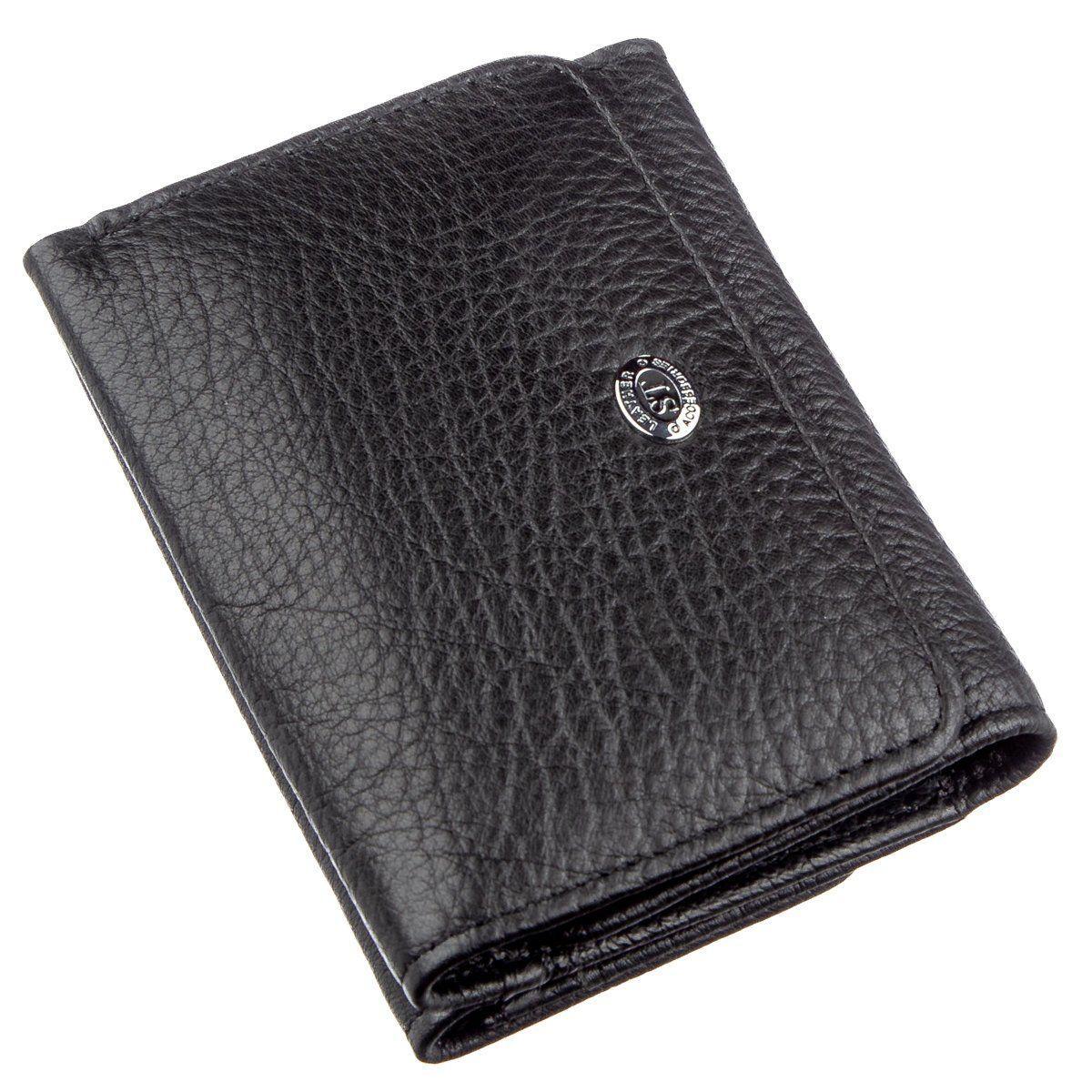 Кошелек для женщин из кожи ST Leather 18886 Черный, Черный