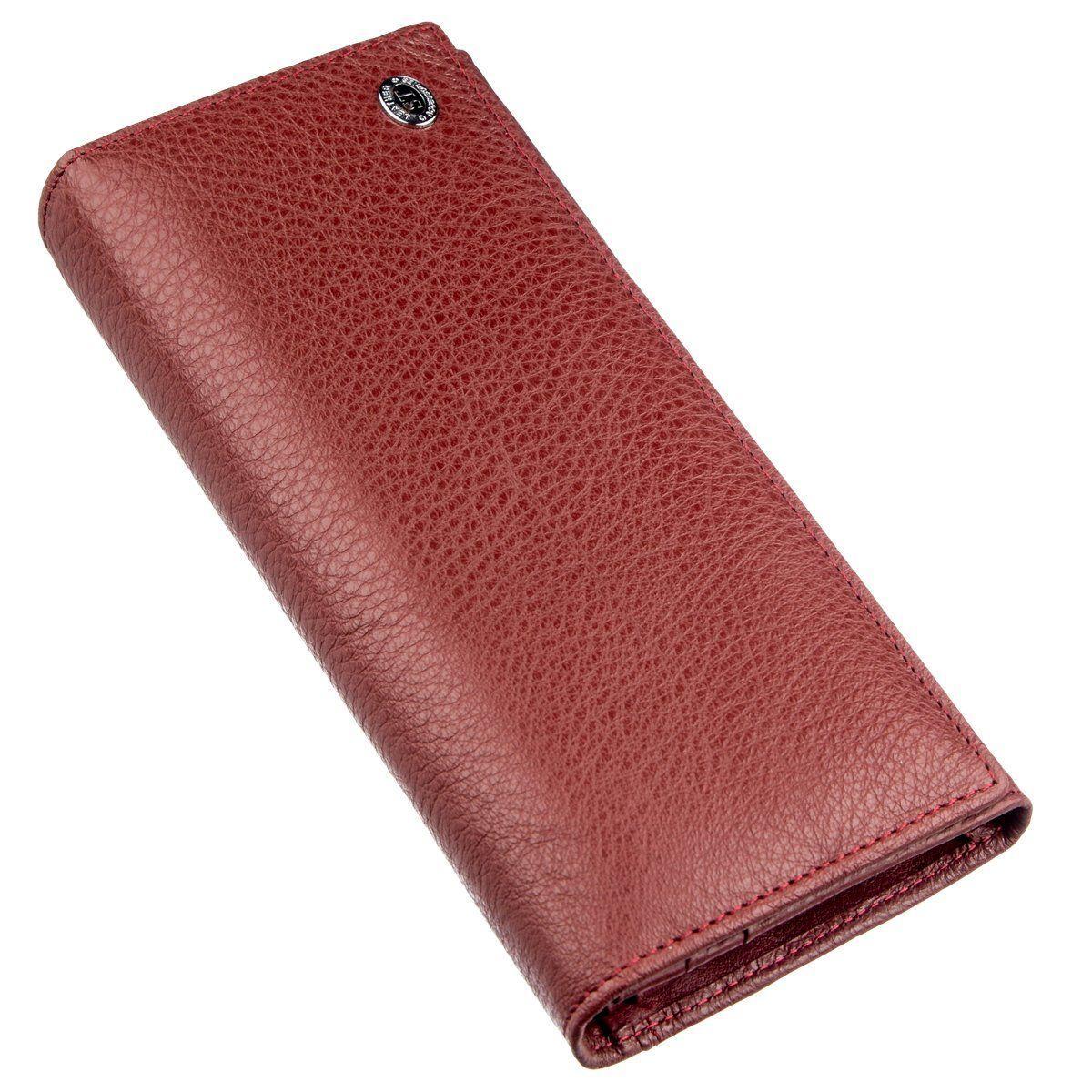 Классический женский кошелек ST Leather 18893 Бордовый, Бордовый