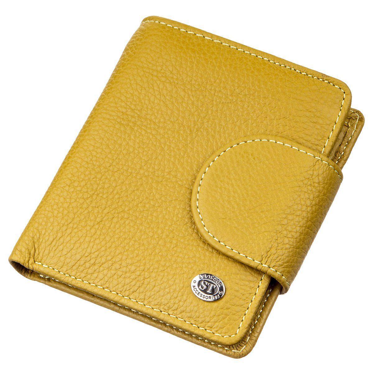 Небольшое портмоне для женщин ST Leather 18924 Горчичный, Желтый