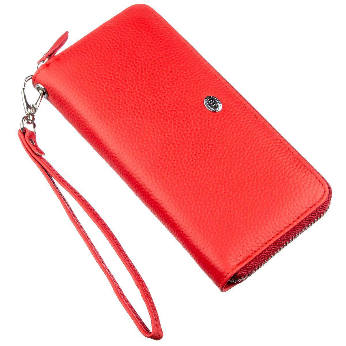Женский клатч на молнии ST Leather 18931 Красный, Красный