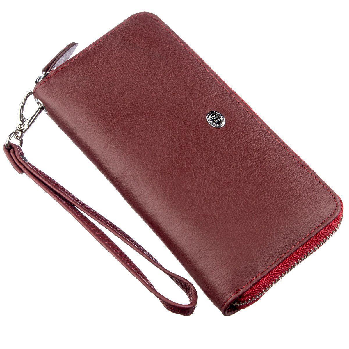 Универсальный клатч-кошелек для женщин ST Leather 18935 Темно-красный, Темно-красный