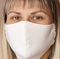 Маска многоразовая, молочная, защитные женские и мужские маски взрослые, подходят для печати