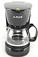 Электрическая капельная кофеварка, кофемашина, стеклянный заварник А-Плюс