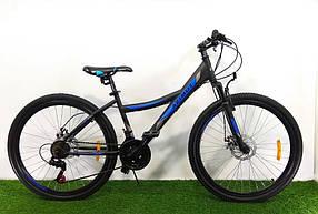 """Гірський велосипед 26 дюймів Azimut Navigator FRD рама 17"""" BLACK-BLUE"""