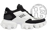 Женские кроссовки Prada Cloudbust Thunder Knit Black White 1E819L_3KR2_F0967_F_050