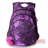 Рюкзаки для девочек Winner Stile 38*15*43 (фиолет с розовым, фиолетовый с бирюзовым)