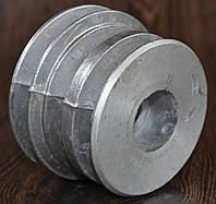 Шкив 3-х ручейковый (профиль А) 20мм внутренний; 76мм-наружный ( 168 F ;170-F) (6,5 л.с.-7 л.с.)