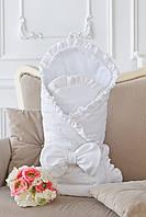 Конверт одеяло из велюра для младенца 1039