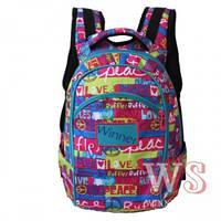 Рюкзаки для девочек Winner Stile 27*19*39 (розовый с бирюзовым)
