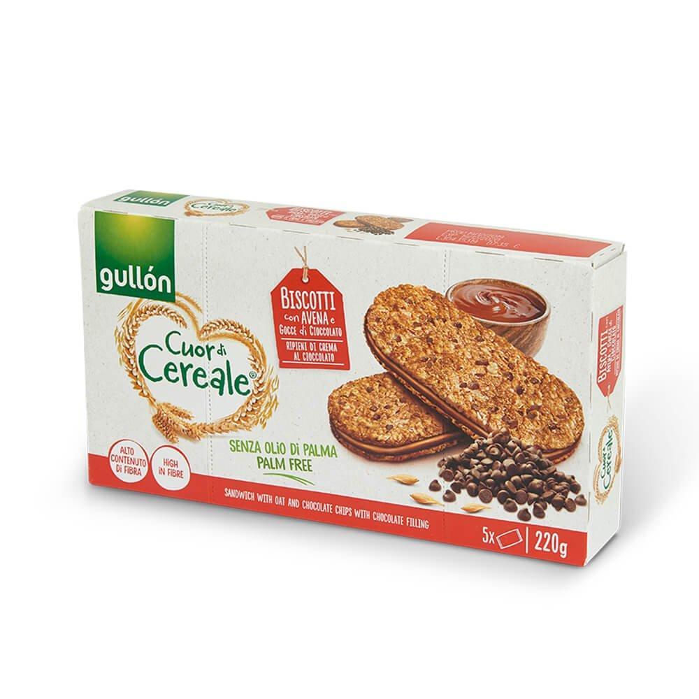 Печиво GULLON сендвіч CDC вівсяне з горіховим кремом, 220г, 8шт/ящ