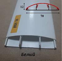 Наличник с кабель-каналом пластиковый, ширина 70 мм, 2,2 м Белый