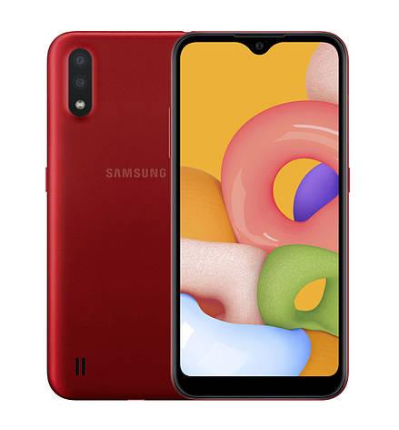 Смартфон Samsung Galaxy A01 (A015F) 2 / 16GB Dual SIM Red (Красный), фото 2