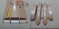 Наличник пластиковый с кабель-каналом 70 мм, 2,2 м Дуб коньячный