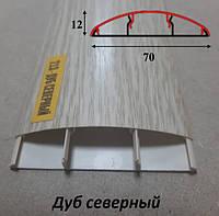 Наличник пластиковый 70 мм, 2,2 м Дуб северный
