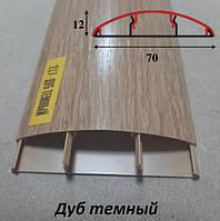 Пластиковый наличник с кабель каналом 70 мм, 2,2 м Дуб тёмный
