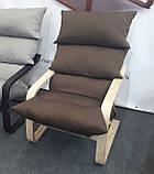 """Крісло-гойдалка коричневе для відпочинку та заколисування дитини SuperComfort """"Стандарт"""" (безкоштовна доставка), фото 2"""