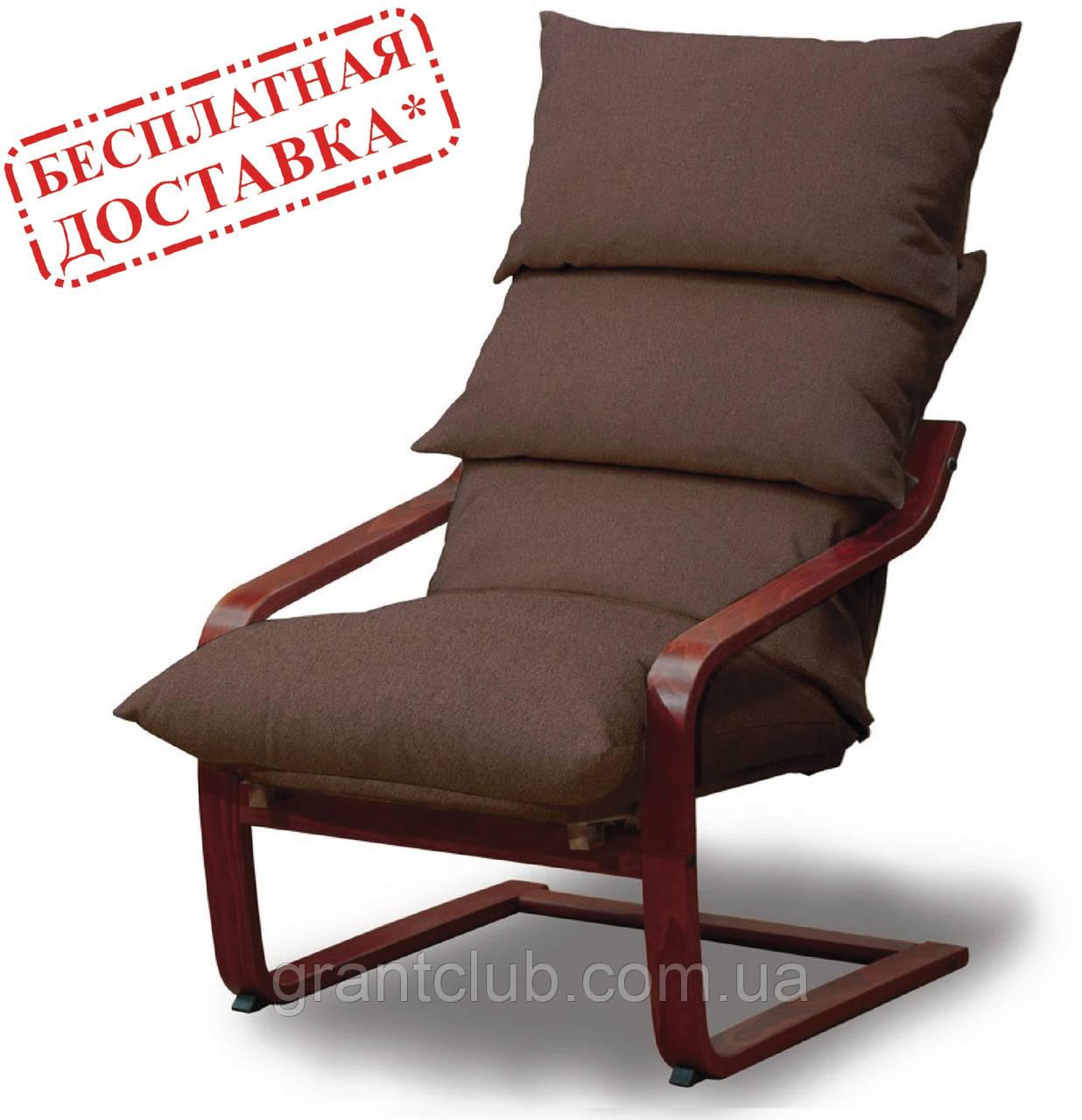 """Крісло-гойдалка коричневе для відпочинку та заколисування дитини SuperComfort """"Стандарт"""" (безкоштовна доставка)"""