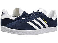 Кроссовки/Кеды (Оригинал) adidas Originals Gazelle Foundation Collegiate Navy/White/Gold Metallic, фото 1