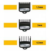 Набор насадок Wahl Premium 1,5; 3; 4,5 мм (03354-5001)