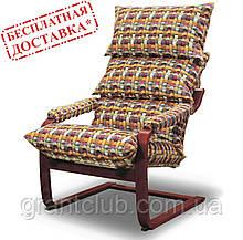 """Кресло-качалка коричневое для отдыха и укачивания ребенка SuperComfort """"Дизайн"""" (бесплатная доставка)"""