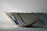 Миска керамическая кобальт