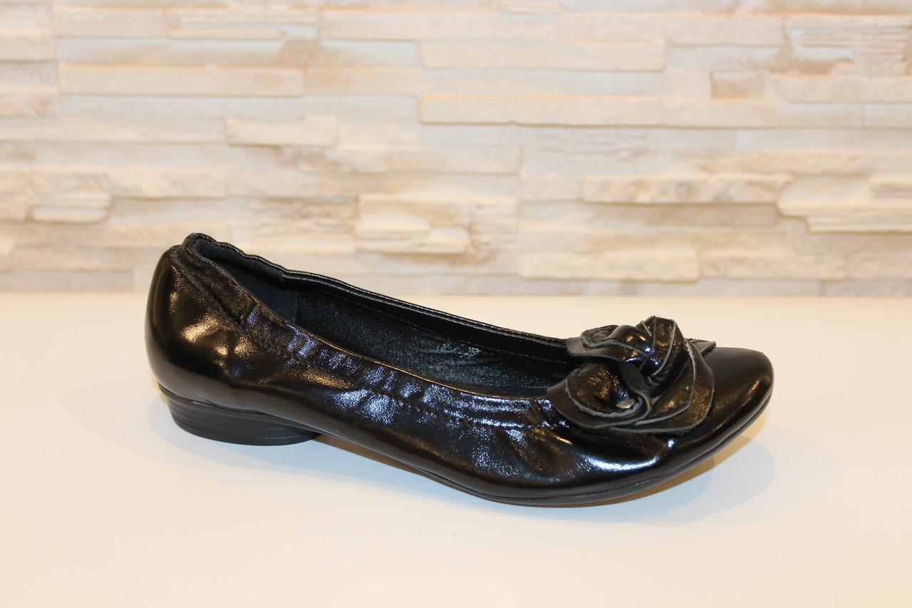 Туфли женские черные натуральная кожа Т46