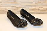Туфли женские черные натуральная кожа Т46, фото 3