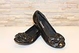 Туфли женские черные натуральная кожа Т46, фото 4