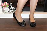 Туфли женские черные натуральная кожа Т46, фото 5