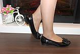 Туфли женские черные натуральная кожа Т46, фото 6