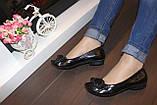 Туфли женские черные натуральная кожа Т46, фото 7