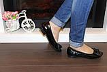 Туфли женские черные натуральная кожа Т46, фото 8