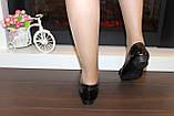 Туфли женские черные натуральная кожа Т46, фото 9